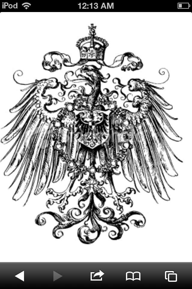 German Imperial Eagle With Iron Cross Wall Tattoo Pictures