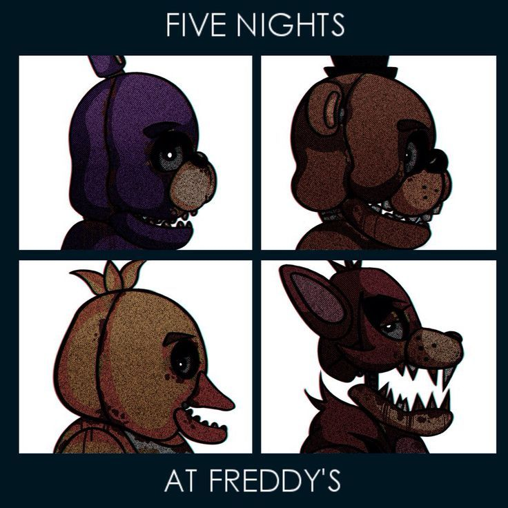Five Nights at Freddys'/Gorillas crossover.