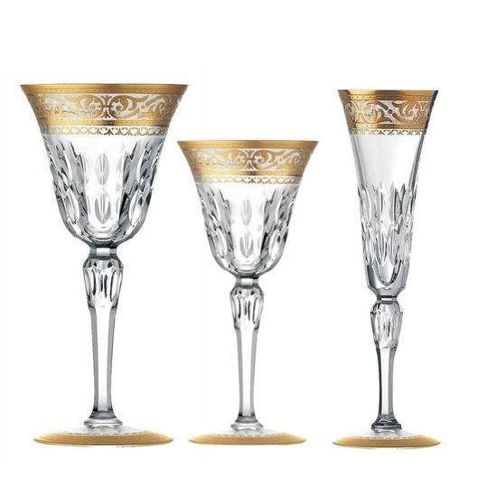 Our Favorite Crystal China Patterns of All Time - The link they provide is not the gold decorated Stella. You have to go to michaelcfina.com for that. And beware - it's pricey!