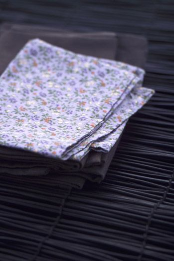 petite servites en tissu #flower #tissu #serviete #deco
