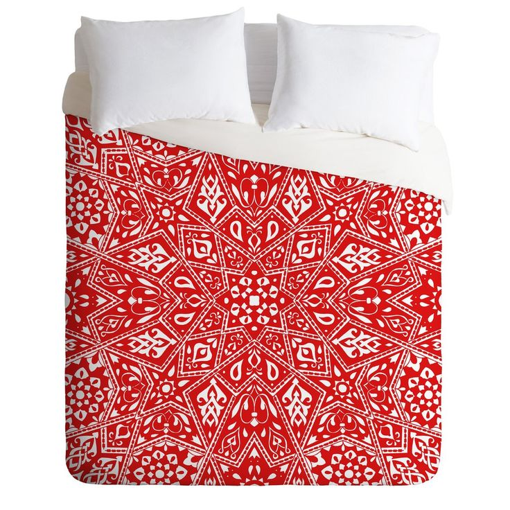 Aimee St Hill Amirah Red Duvet Cover | DENY Designs Home Accessories