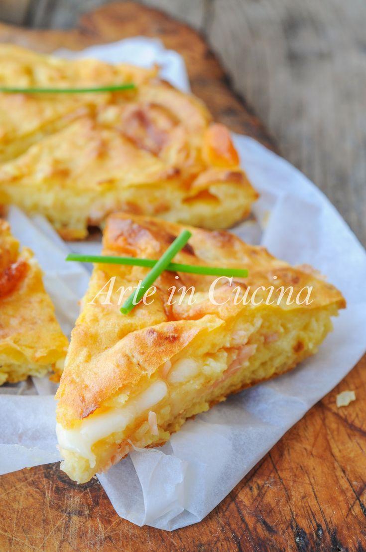 Focaccia di patate salmone e provola ricetta facile vickyart arte in cucina