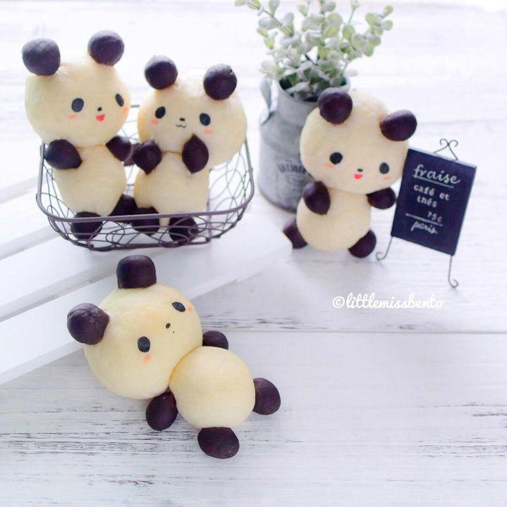 Panda bread by Little Miss Bento Official (@littlemissbento)