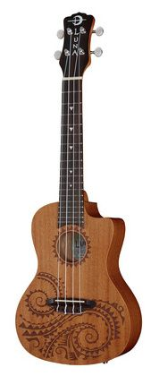 Luna Guitars Ukulele Concert Tattoo PU #Thomann