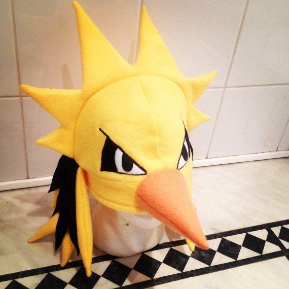 Handmade pokemon hat Zapdos by KurtabraHats on Etsy