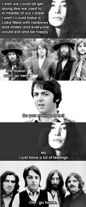Cannot stop laughing at these Beatles/Mean Girls memes. Such a random and odd combo but I am crying, people. It is not attractive.