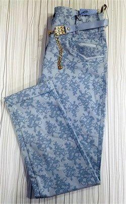 Büyük Beden Desenli Full Likralı Pantolon