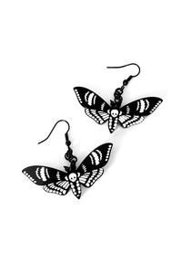 Deaths Head Moth Gothic Earrings by Curiology