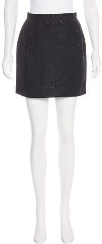 Kenzo Linen Mini Skirt