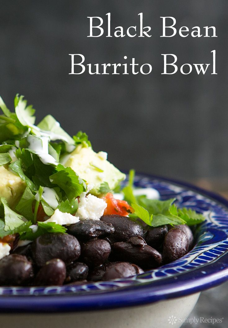 ... Beans Burritos, Black Beans, Recipe Simplyrecipes Com, Burrito Bowls