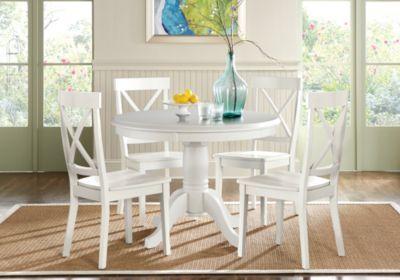 Brynwood White 5 Pc Round Dining Set-Dining Room SetsColors