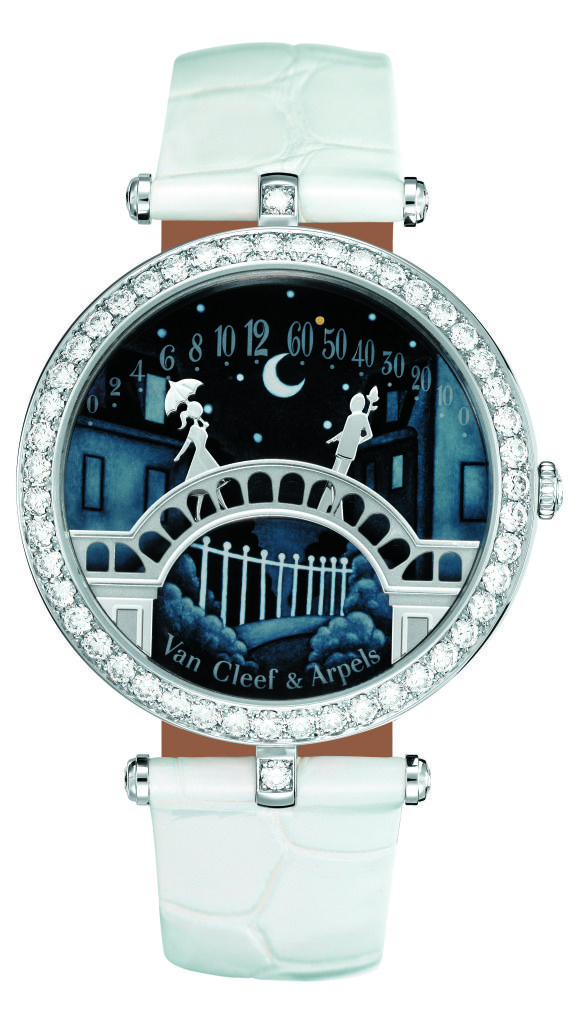 Van Cleef & Arpels watch - the two figures get closer together as time goes by!