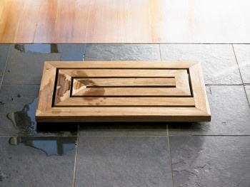 a wooden bathmat?