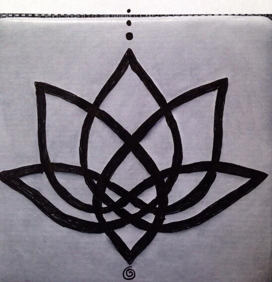 1 Celtic knot lotus tattoo