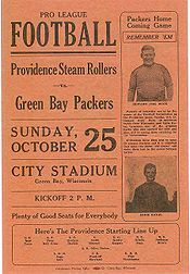 "1931 program between the ""Steam Rollers"" and Green Bay Packers. #vintage #nfl #packers"