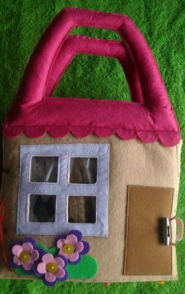 doll house quiet book cover... Книга -домик №3