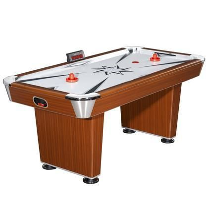 NG1037 Midtown 6' Air Hockey Table featuring an Easy to Read LED Scoring Unit and a Powered Hi-Grade Blower System for Quicker Gameplay
