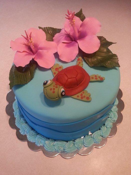 Th Beachy Themed Birthday Cakes