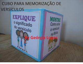 Baú de Recursos para o Ministério Infantil: Cubo para memorização de versículos - passo-a-passo