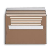 Sorrell Brown Striped Envelopes