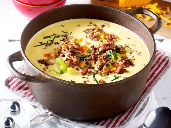 Käse-Lauch-Suppe mit Hack - so geht's   LECKER