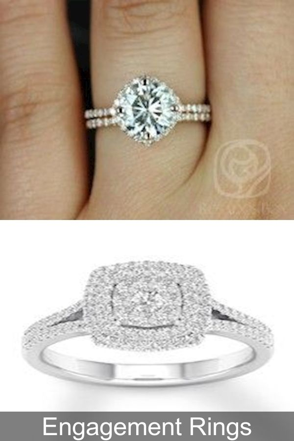 1 Carat Diamond Engagement Ring Custom Wedding Bands Engagement In 2020 Aquamarine Engagement Ring Rose Diamond Band Engagement Ring Sapphire Engagement Ring Blue