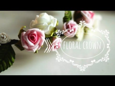 DIY: Floral Crown (coroncina di fiori) - YouTube