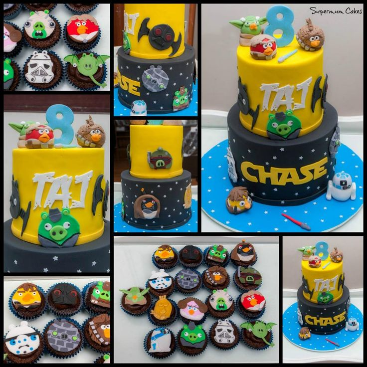 Star Wars Angry Birds Cupcakes By Supermum Cakes Photo ...