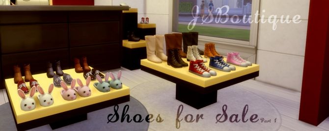 Shoes for Sale part 1 at JSBoutique via Sims 4 Updates