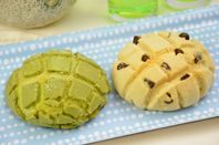 Melon-Pan Recipes (Zojirushi), Dough made in a bread machine , Fun Variations: Green Tea and Chocolate Chip