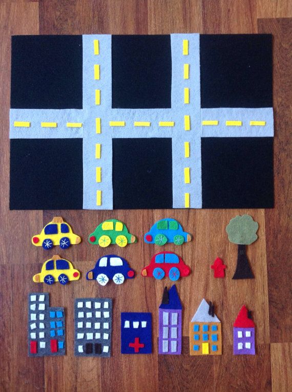 Imaginary Play Activity Felt Board Cars by WhisperingLions, $30.00