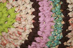 Homemade hæklet gulvtæppe
