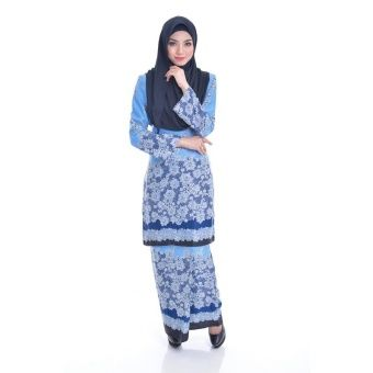 """Kurung Modern Eizara (Blue  Blue) Kurung Modern Eizara is the latest collections from NUR SHILA made of a very high quality, comfortable to wear, and very nice royal silk material. Shoulder x Bust x Waist x Sleeves x Hip x LengthXS : 14"""" x 34"""" x 32"""" x 23"""" x 40"""" x 38""""S : 14.5""""... #bajukurung #bajukurungmoden"""