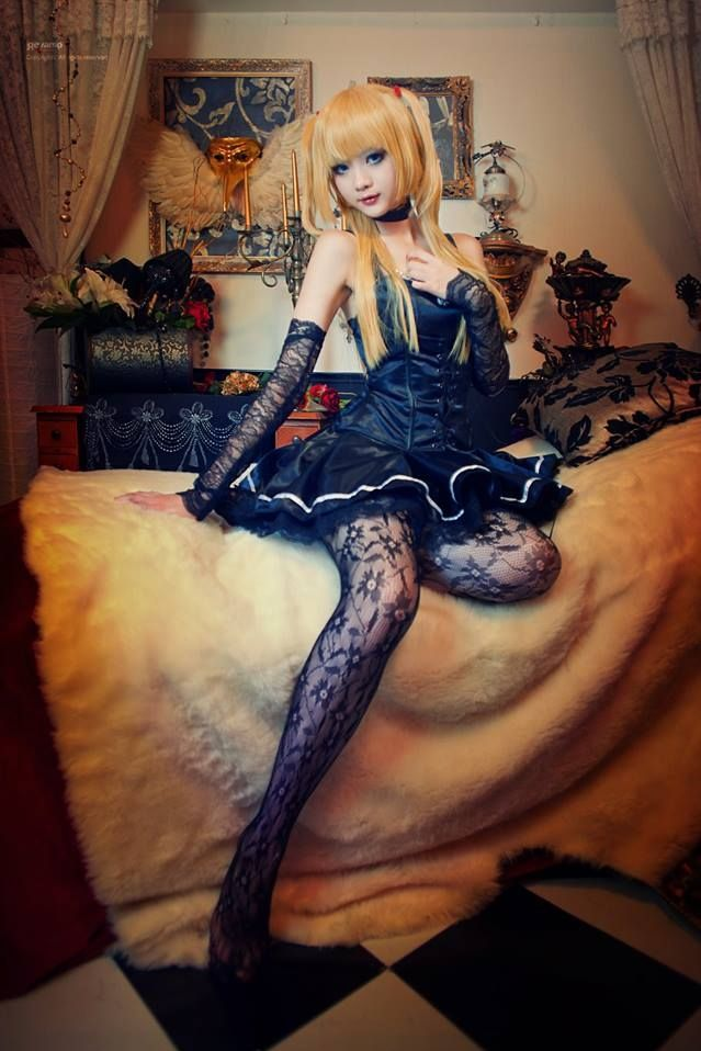 Misa Amane cosplay - Death Note. This is actually very good cosplay, but I haven't hated a character like I hate Misa Amane in a looong time.