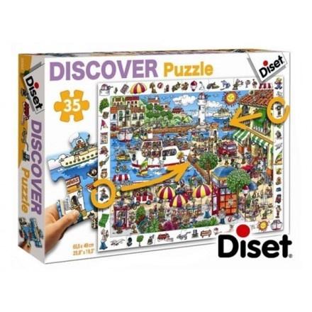 69582 - Puzzle El Puerto, Discover. 35 Piezas, Diset.   http://sinpuzzle.com/puzzles-infantiles-48-piezas/589-69582-puzzle-el-puerto-discover-35-piezas-diset.html