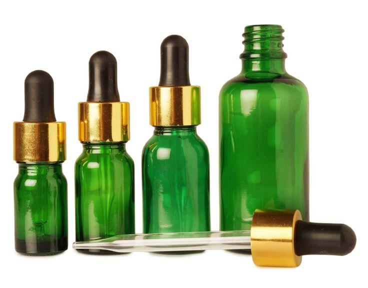 10 ml Grüner Boston runde Flasche Großhandel Glasflaschen nachfüllbar Essential Oils Tropfen Flaschen leeren Pipette Pipette Vial 6x: Amazon.de: Beauty