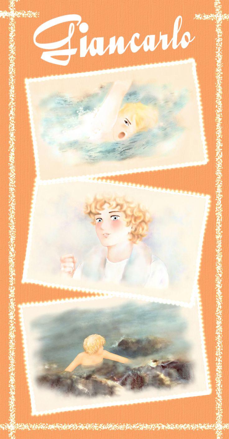 """""""Giancarlo"""": illustrazioni per il romanzo per ragazzi """"Vivere a Venezia"""", di Laura M. Cecilia Ferro. #illustrazioni, #manga, #cartoon"""