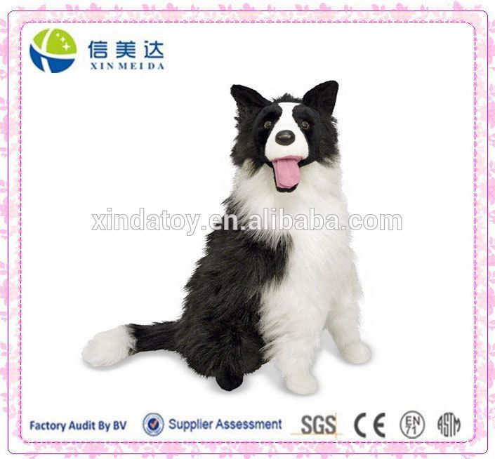 Cuddly Border Collie plush toy with realistic design #Border Collie, #For Sale