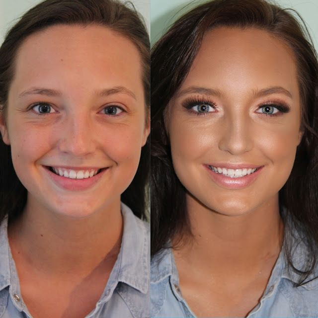 It's amazing what highlighting and contouring can do!!!