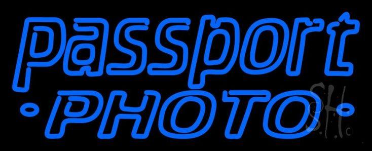 Double Storke Blue Passport Neon Sign