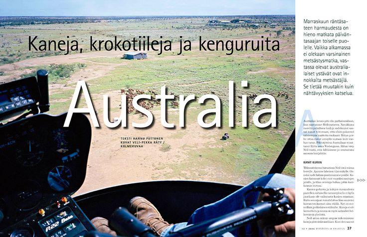 Australia – Rabbits, Crocodiles and Kangaroos I like how the drop cap A works with the image.