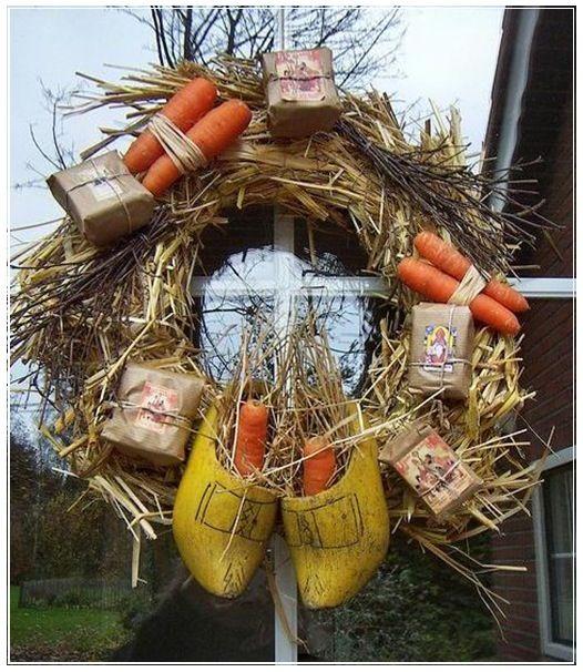 "♔ van ""Oranje"" Nassau ♕ ...Sinterklaas krans - Dutch wreath"