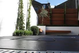 White wall render garden
