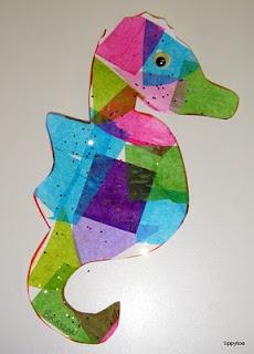 Tippytoe Crafts: Eric Carle: Ideas, Ocean Theme, Seahorse Suncatchers, Seahorses, Art, Seahorse Craft, Eric Carle