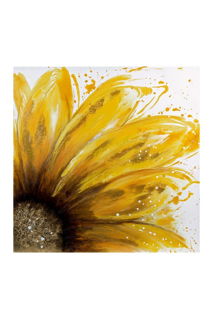 Yellow Daisy Oil Painting Canvas Wall Art on @HauteLook