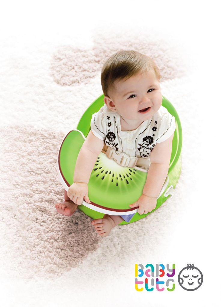 Silla bebé POD Flex Plus verde para bebé con diseño ergonómico que proporciona un soporte óptimo para que el bebé aprenda a sentarse. Prince Lionheart