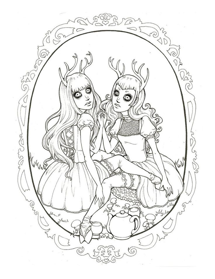 darling deer by raevynewings deviantart grimm fairy tales coloring pages for adults adult. Black Bedroom Furniture Sets. Home Design Ideas