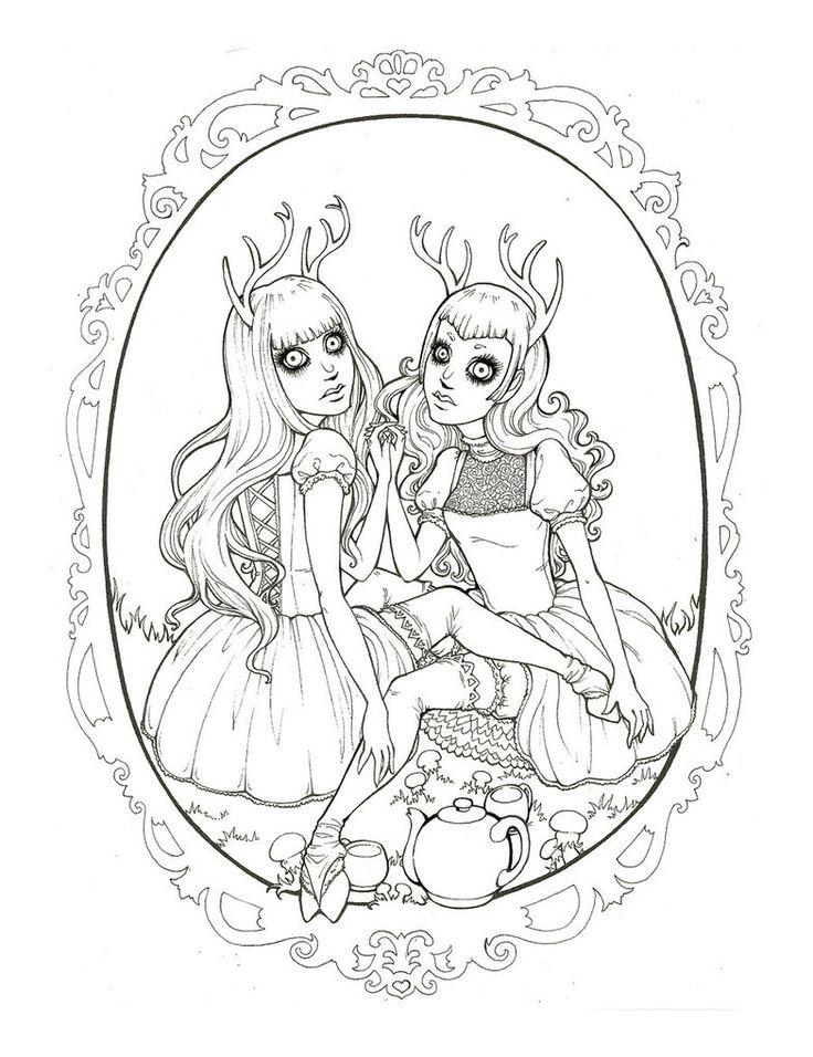 Darling Deer by raevynewings DeviantArt Fairy coloring