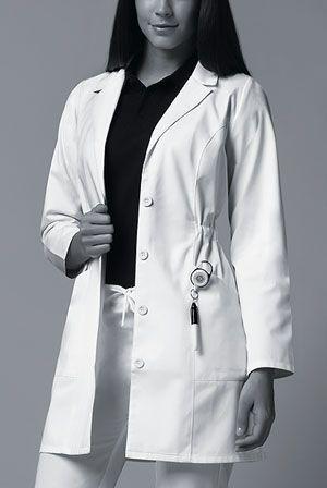 """84402 Dickies Women's 34"""" White Lab Coat"""