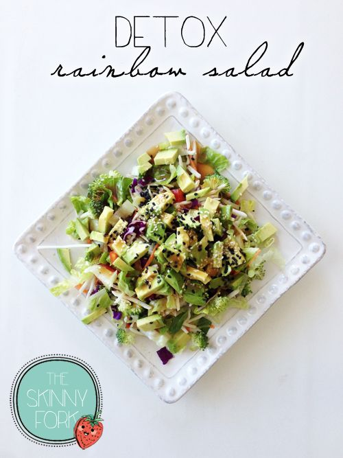 Detox Rainbow Salad - Cleanse, rehydrate, and nourish your body while you eat this fantastic and super easy to throw together salad. Great as a side or for lunch!